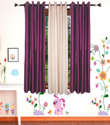 Shop Since Polyester Multicolor Plain Eyelet Window Curtain