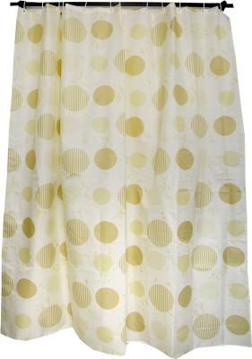 Skap Polyester White Polka Eyelet Shower Curtain