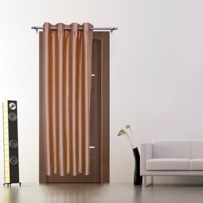 Zappy Cart Polyester Copper Solid Curtain Door Curtain