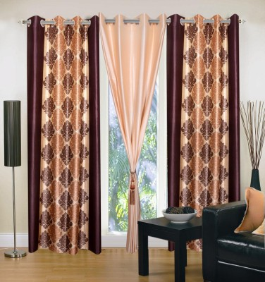 Brand Decor Polyester Multicolor Abstract Eyelet Long Door Curtain