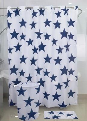 Skap Polyester Grey Abstract Ring Rod Shower Curtain