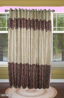 shoppeholics Polyester Mahroon Self Design Curtain Door Curtain
