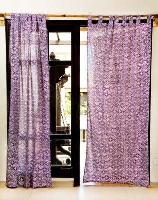 Ocean Homestore Cotton Blue Printed Eyelet Window Curtain