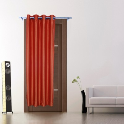Zappy Cart Polyester Orange Solid Curtain Long Door Curtain
