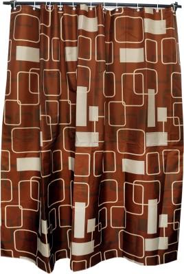 Skap Polyester Brown Solid Eyelet Shower Curtain