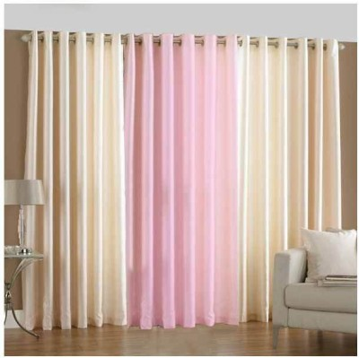 Daddu Enterprises Polyester Multicolor Plain Eyelet Door Curtain