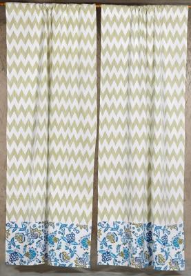 Ocean Homestore Cotton Multi colour Geometric Curtain Window & Door Curtain