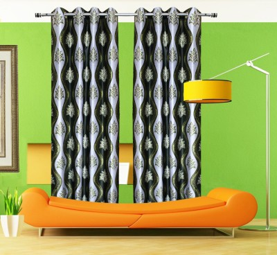 Home Fashion Gallery Polyester Multicolor Polka Eyelet Door Curtain