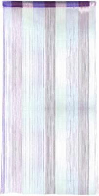 Ramcha Polyester Blue Self Design Rod pocket Door Curtain