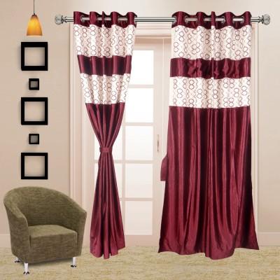 I Catch Blends Purple Polka Curtain Door Curtain
