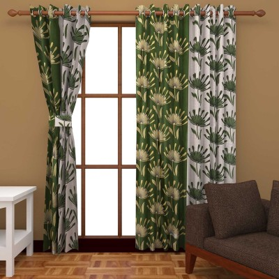 Abhomedecor Polyester Multicolor Abstract Eyelet Door Curtain