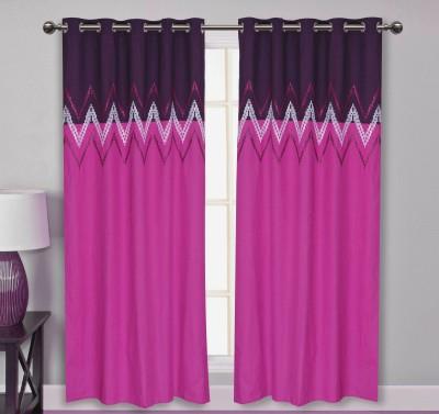 Elan Cotton Pink Embroidered Eyelet Door Curtain