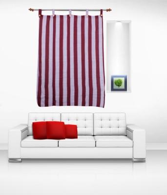 Lukluck Cotton Purple Abstract Ring Rod Window Curtain