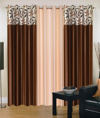 Shop Since Polyester Multicolor Solid Eyelet Door Curtain
