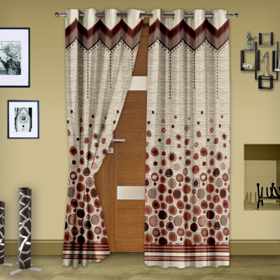 Story @ Home Jacquard Green Floral Eyelet Door Curtain