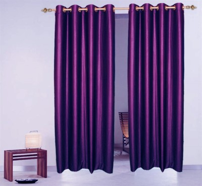 Batham Sales Blends Purple Plain Eyelet Long Door Curtain