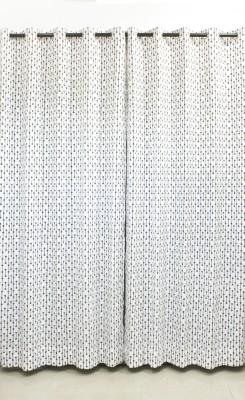 Kivadi Cotton Black Printed Eyelet Long Door Curtain