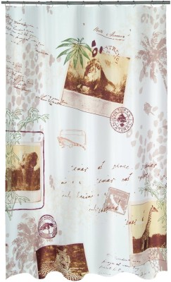 Spread Polyester savanna beige Printed Eyelet Shower Curtain