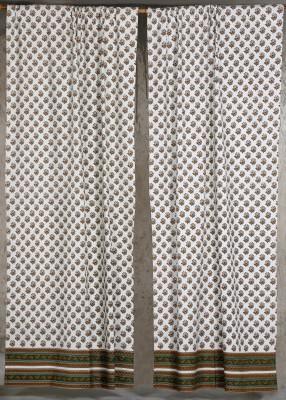 Ocean Homestore Cotton Multi colour Motif Curtain Window & Door Curtain