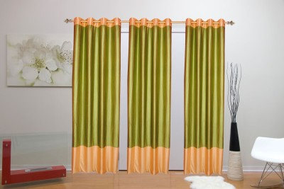 Batham Sales Blends Green Plain Eyelet Long Door Curtain