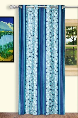 Dreaming Cotton Polyester Blue Abstract Curtain Door Curtain