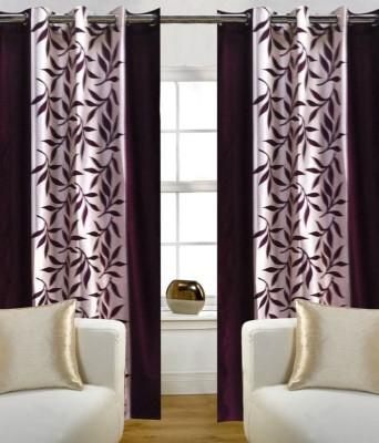 Sanaya Polycotton Multicolor Printed Ring Rod Door Curtain
