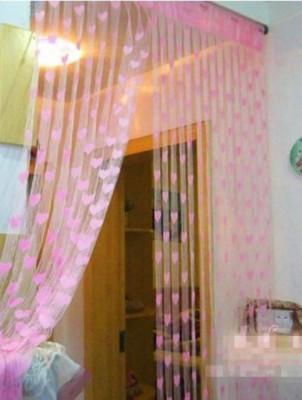 Ramcha Polyester Pink Abstract Eyelet Door Curtain