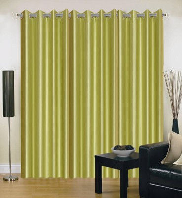 DreamsHomes Polyester Green Solid Eyelet Door Curtain