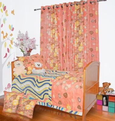 Aurraa Cotton Multicolor Floral Eyelet Door Curtain