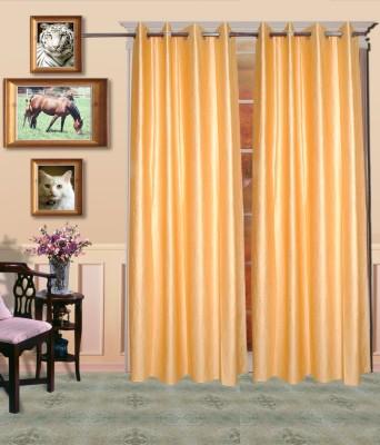 HandloomVilla Polyester Bage Solid Eyelet Door Curtain