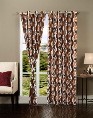 IWS Polyester Multicolor Floral Eyelet Door Curtain