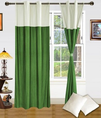 Ech Oly Polyester Green Plain Eyelet Door Curtain