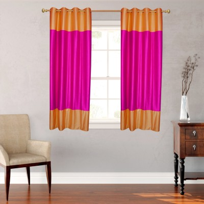 Batham Sales Blends Pink Plain Eyelet Window Curtain
