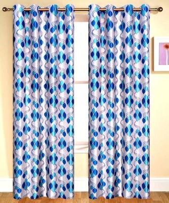 Sai Arpan Polyester White Printed Eyelet Door Curtain