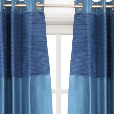 House This Cotton Blue Embroidered Eyelet Window Curtain