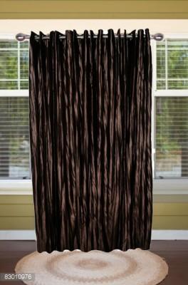 shoppeholics Polyester Dark Brown Self Design Curtain Door Curtain