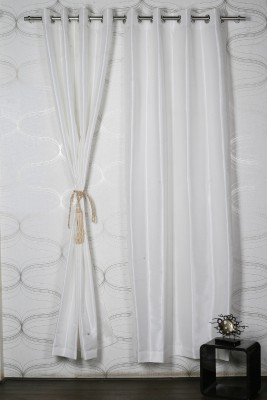 Homelife Polyester White Solid Eyelet Door Curtain