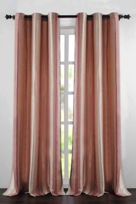Deco Essential Polyester Purple Plain Eyelet Door Curtain