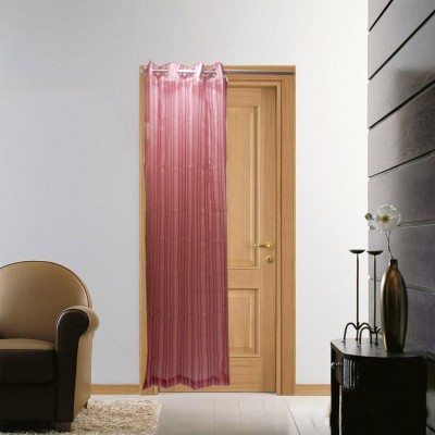 Furnishing Centre Polyester White Striped Eyelet Door Curtain