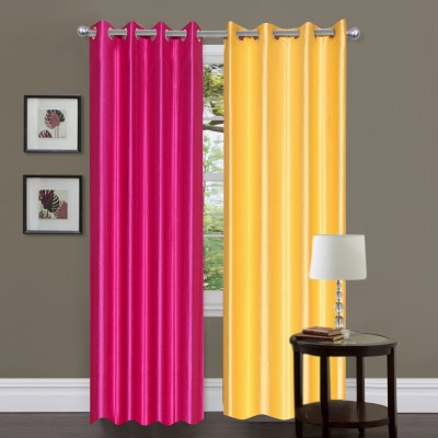 Newhome Polyester Multicolor Plain Eyelet Door Curtain