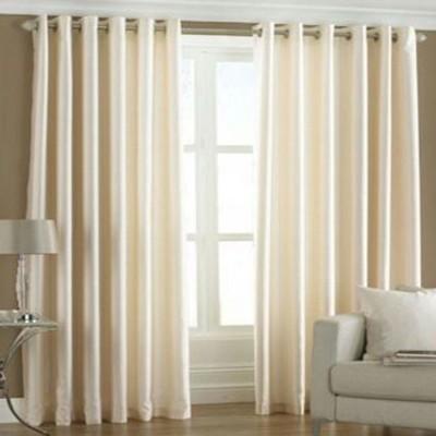 Ech Oly Polyester Cream Plain Eyelet Door Curtain