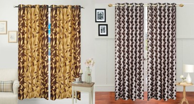 Jars Collections Polyester Multicolor Floral Eyelet Long Door Curtain