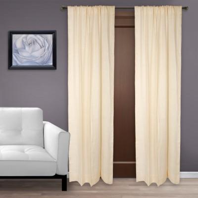 Marmitte Cotton Off-White Plain Rod pocket Door Curtain