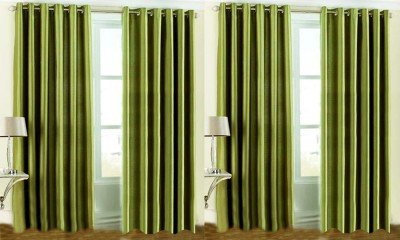 JBG Home Store Polyester Green Plain Eyelet Door Curtain