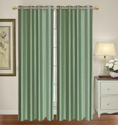 Hometex Polyester Royal Green Window Valance