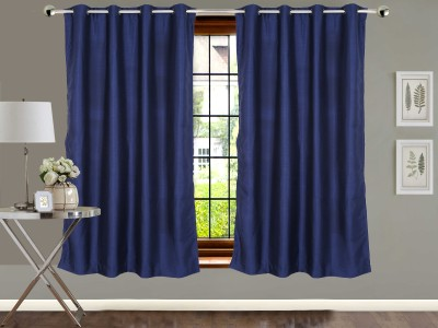 Vivace Homes Jacquard Multicolor Solid Eyelet Window Curtain