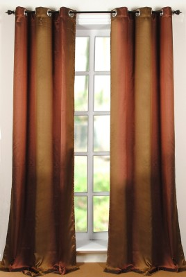Deco Window Polyester Multicolor Floral Eyelet Window Curtain