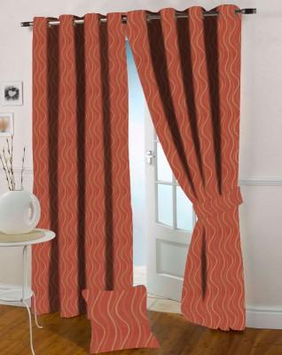 Presto Polycotton Pink Solid Eyelet Door Curtain