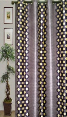 JBG Home Store Polyester Purple Geometric Eyelet Door Curtain