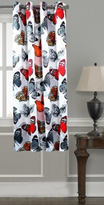 Lushomes Polyester Multicolor Printed Eyelet Window Curtain